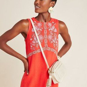 NWT Anthropologie Aiko Embroidered Shift Dress